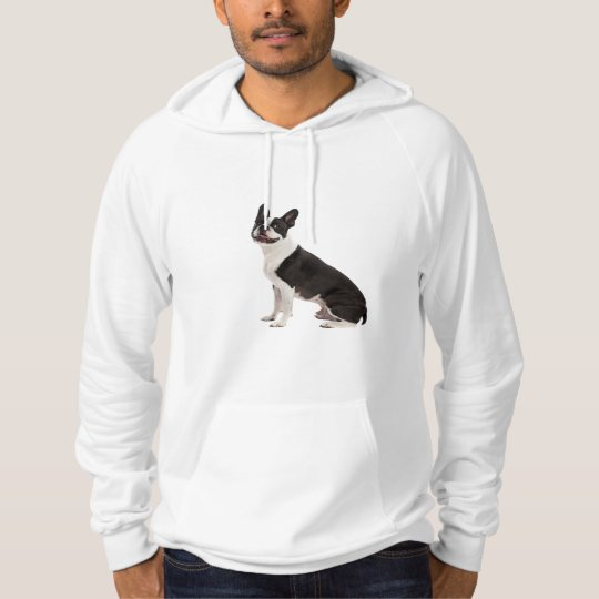 Boston Terrier dog beautiful photo, mens fleece Hoodie