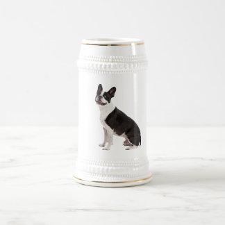 Boston Terrier dog beautiful photo stein, gift Beer Steins