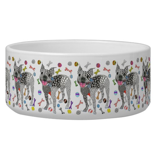 Boston Terrier Dog Bowl (Customisable)