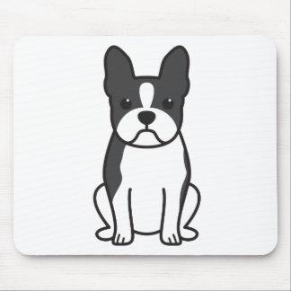 Boston Terrier Dog Cartoon Mouse Mat