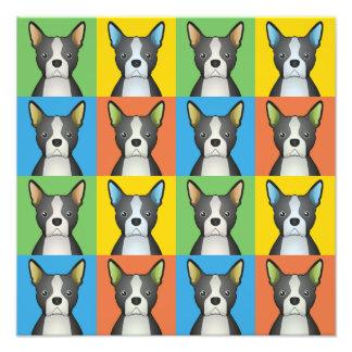 Boston Terrier Dog Cartoon Pop-Art Art Photo