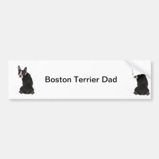 Boston Terrier Dog Dad Bumper Sticker