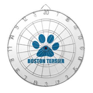BOSTON TERRIER DOG DESIGNS DARTBOARD