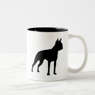 Boston Terrier Dog Gifts (black) Two-Tone Coffee Mug