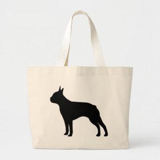 Boston Terrier Dog Large Tote Bag