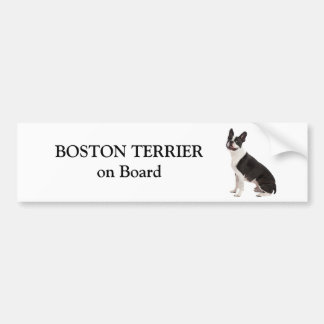 Boston Terrier dog on board custom bumper sticker