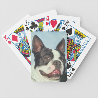 Boston Terrier Dog Playing Cards