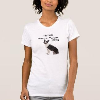 Boston Terrier dog proud mum custom womens t-shirt