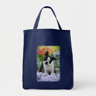 Boston Terrier Dog Puppy, bag Grocery Tote