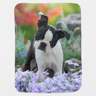 Boston Terrier Dog Puppy Buggy Blankets