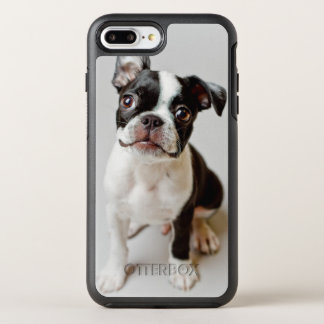 Boston Terrier dog puppy. OtterBox Symmetry iPhone 8 Plus/7 Plus Case