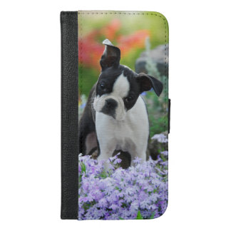 Boston Terrier Dog Puppy - protect iPhone 6/6s Plus Wallet Case