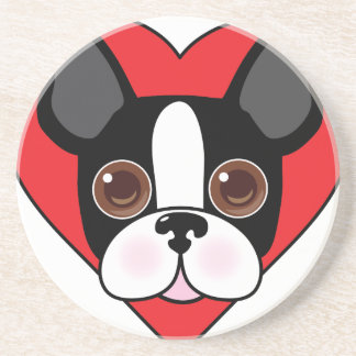 Boston Terrier Face Coaster