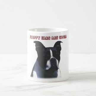 Boston Terrier:  Floppy Ears are Cool! Mugs