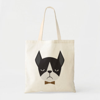 Boston Terrier French Bulldog Mean Mug Tote