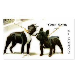 BOSTON TERRIER&FRENCH BULLDOG PACK OF STANDARD BUSINESS CARDS