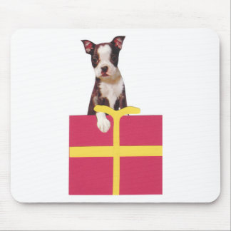 Boston Terrier Gift Box Mousepads