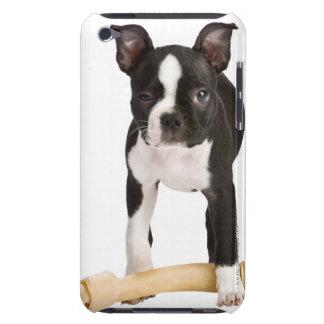 Boston terrier guarding twisty bone iPod Case-Mate case