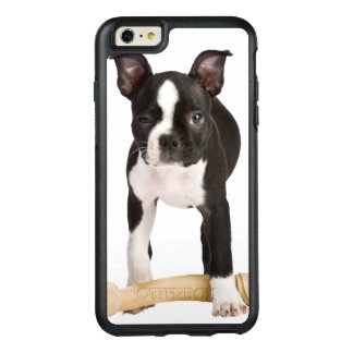 Boston terrier guarding twisty bone OtterBox iPhone 6/6s plus case