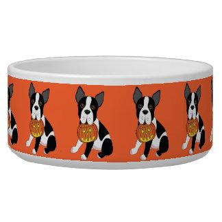 Boston Terrier Halloween Dog Bowl