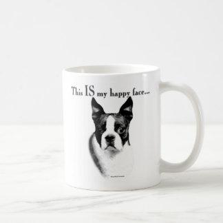 Boston Terrier Happy Face Coffee Mug