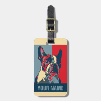 Boston Terrier Hope Inspired Luggage Tag