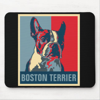 Boston Terrier Hope Inspired Mouse Mat