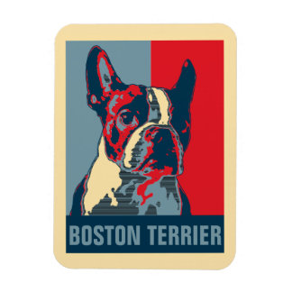 Boston Terrier Hope Inspired Rectangular Photo Magnet