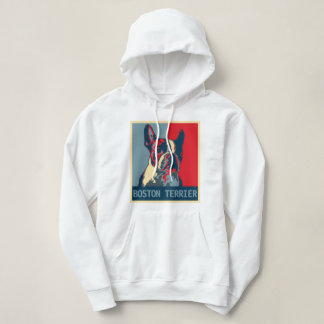 Boston Terrier Hope Poster Hoodie