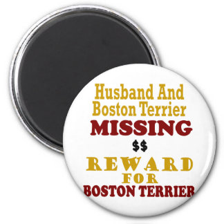 Boston Terrier  & Husband Missing Reward For Bosto Magnet