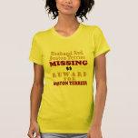 Boston Terrier  & Husband Missing Reward For Bosto Shirts