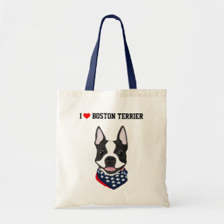 Boston Terrier Illustrated Tote Bag