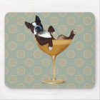 Boston Terrier in Cocktail Glass Mouse Mat