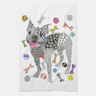 Boston Terrier Kitchen Towel