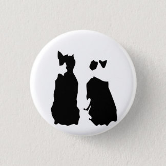 BOSTON TERRIER KOTARO & TEN TEN 3 CM ROUND BADGE