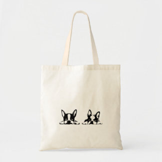 BOSTON TERRIER KOTARO & TEN TEN TOTE BAG