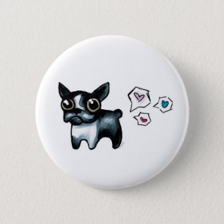 Boston Terrier Love 6 Cm Round Badge