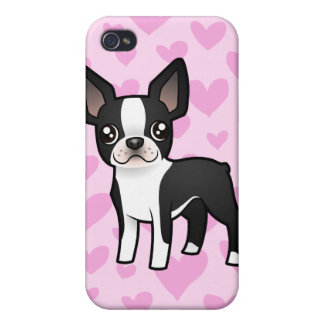 Boston Terrier Love (add your own pern!) iPhone 4/4S Covers