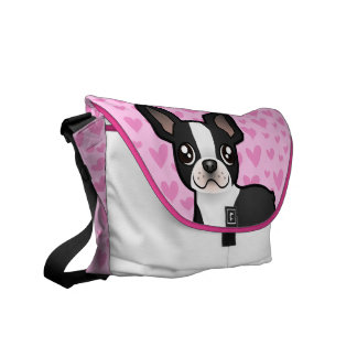 Boston Terrier Love Courier Bags