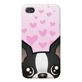 Boston Terrier Love iPhone 4/4S Covers