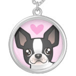 Boston Terrier Love Personalized Necklace