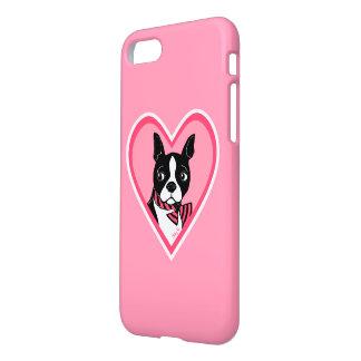 Boston Terrier Love Pink iPhone 7 Case