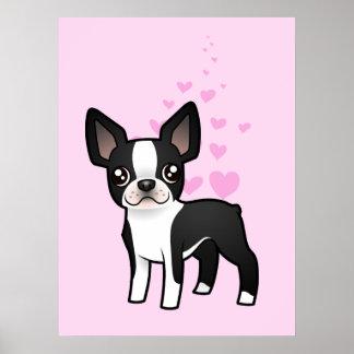 Boston Terrier Love Poster