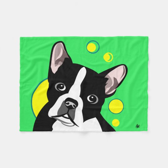 Boston Terrier Lover Gifts Fleece Blanket