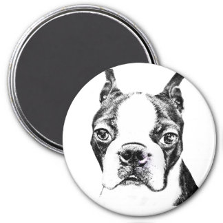 Boston Terrier 7.5 Cm Round Magnet