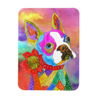 "Boston Terrier Magnet 3""x4"" (You can Customize)"