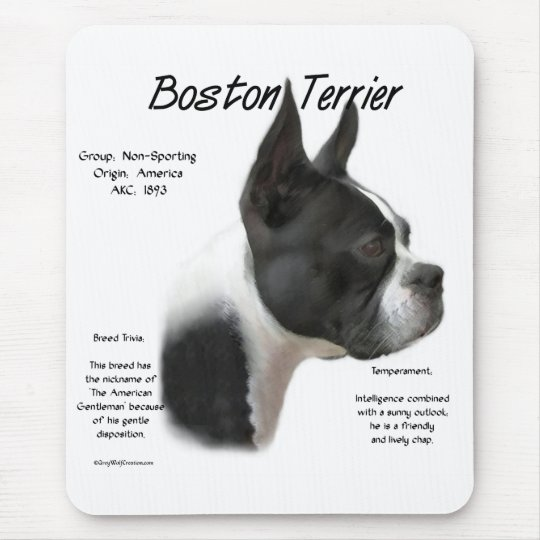 Boston Terrier Meet the Breed Mouse Mat