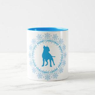Boston Terrier Merry Christmas Coffee Mug