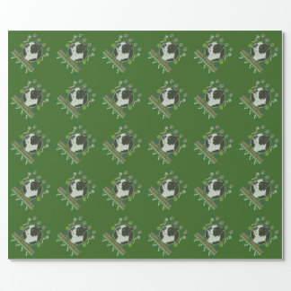 Boston Terrier Merry Christmas Ugly Sweater Wrapping Paper