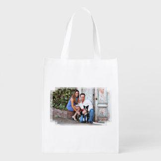Boston Terrier - Miles Reusable Grocery Bag